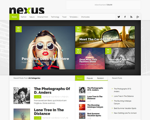 Live WordPress Magazine Theme
