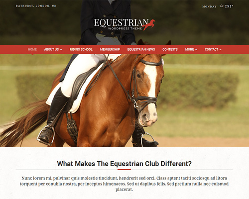 Riding Stables WordPress Theme