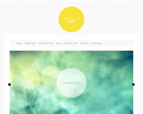 Free Simple WordPress Theme With Slider