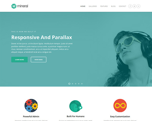 Responsive Flat WordPress Theme