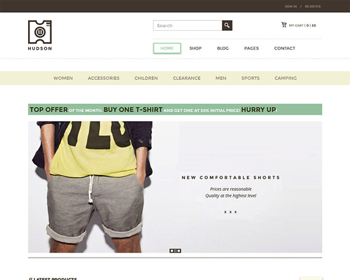 Online Store Theme for WordPress