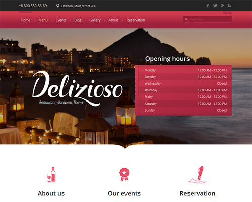 Customizable WordPress Restaurant Theme