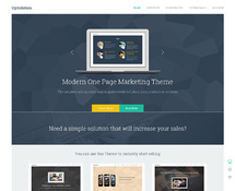 One-page Marketing WordPress Theme