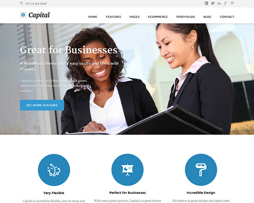 Business WordPress Theme for Corporations