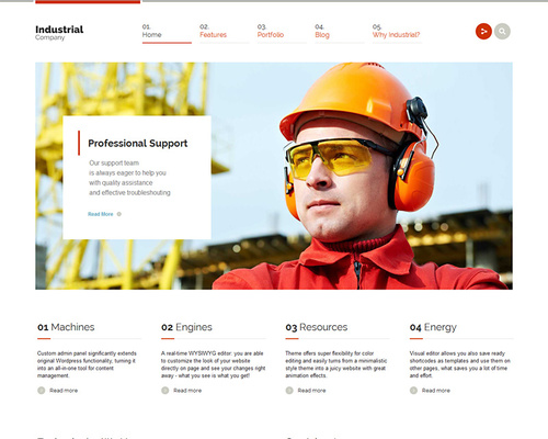 WordPress Theme for Industry Professionals
