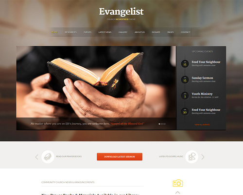 Church WordPress Theme for Prayer Groups