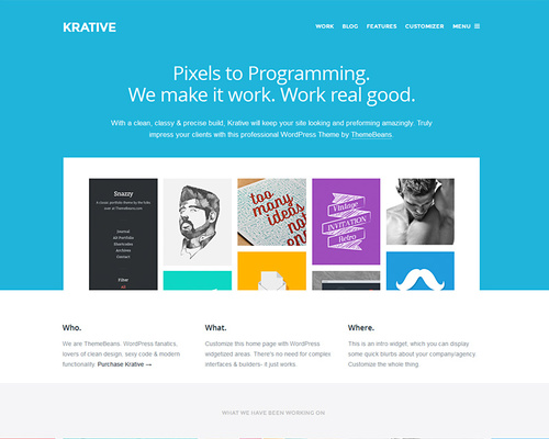 Flat WordPress Theme for Designers & Agencies