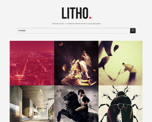 Grid-Based WordPress Portfolio Theme