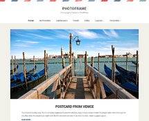 Travel Photography WordPress Blog Theme