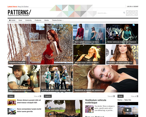 Bootstrap Magazine WordPress Theme