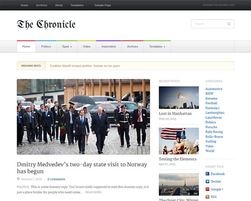 WordPress Gazette Theme
