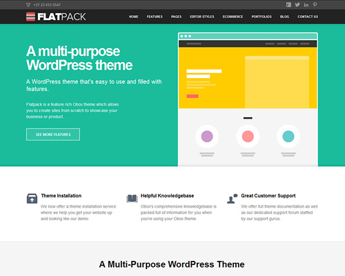 WordPress Theme for Business & Products