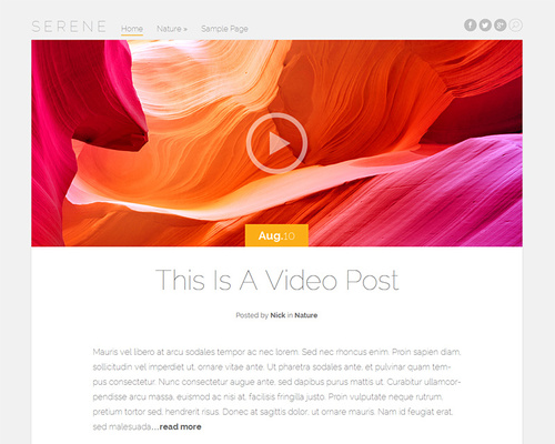 Beautiful Free WordPress Blogging Theme