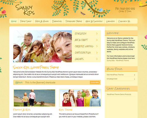 Kids WordPress Template