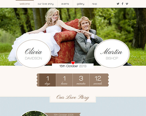 Romantic Wedding - WordPress Theme for Wedding | Themeshaker.com