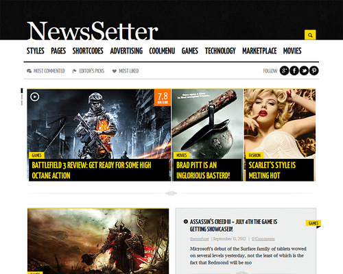 Tech News WordPress Theme