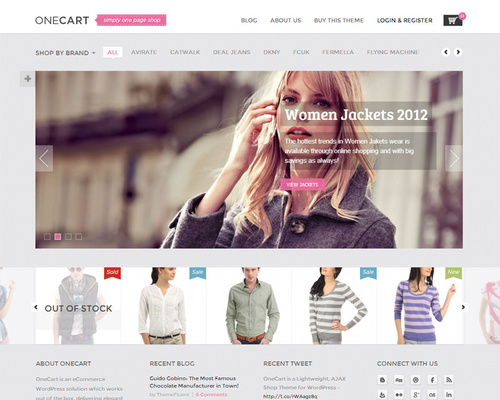One-Page WordPress Ecommerce Theme