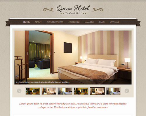 WordPress Theme for Hotel