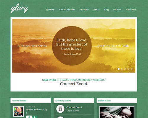 WordPress Church Template
