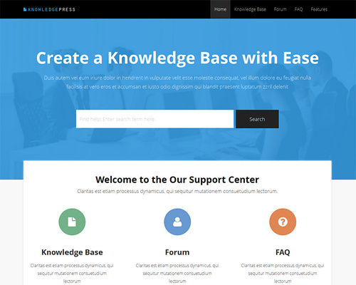 KnowledgePress - Support WordPress Theme | Themeshaker.com
