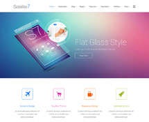 Flat Glass Design WordPress Theme