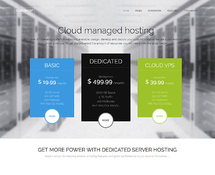 WordPress Theme for Hosting Provider