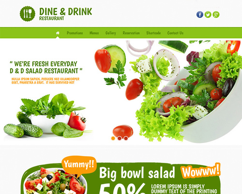 Fresh Food WordPress Theme for Restaurant