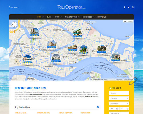 Travel WordPress Theme with Booking System
