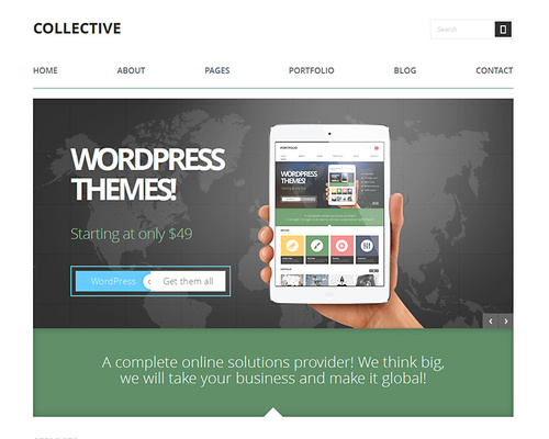 Business or Portfolio WordPress Theme