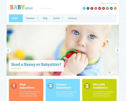 WordPress Theme for Nanny Agency and Jobs