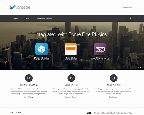 Free WordPress Theme with Slider