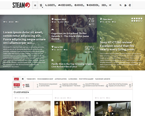 Review Magazine WordPress Theme