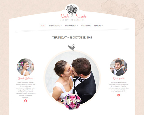 Getting Married WordPress Theme