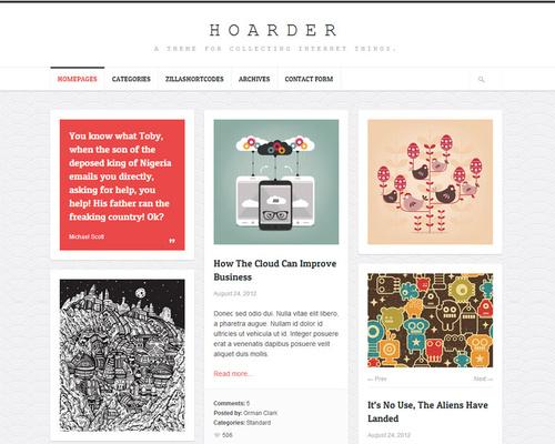 Grid-Based WordPress Theme