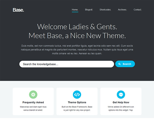 Knowledge Base WordPress Theme