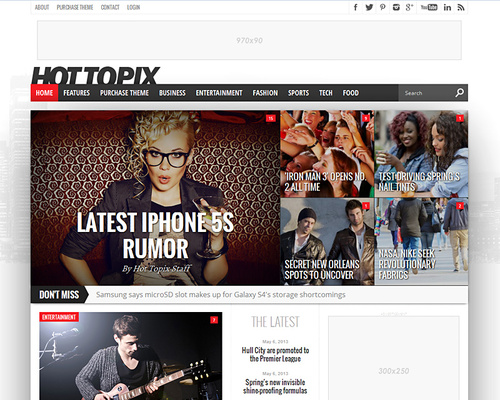 Celebrity Magazine WordPress Theme