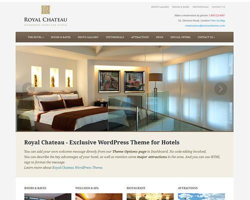 WordPress Theme for Hotel & Spa