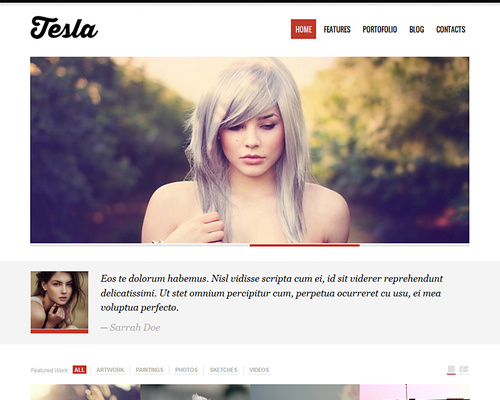 Free Premium WordPress Portfolio Theme