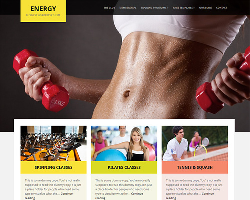 WordPress Theme for Gym and Sports