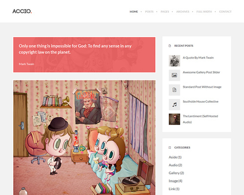 Flat WordPress Blog Theme