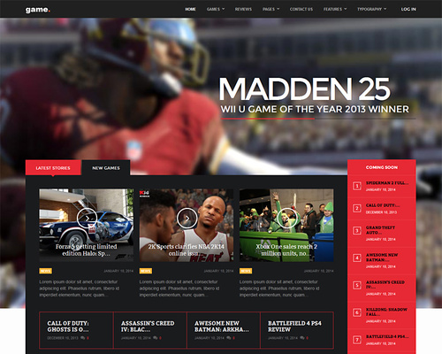 WordPress Gaming Theme for Game Reviews
