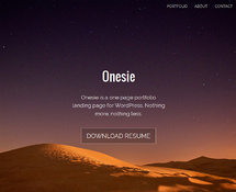 Free One-page Portfolio Landing Page Theme
