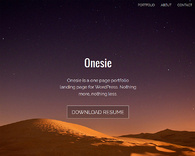 Onesie-free-one-page-portfolio-landing-page-theme