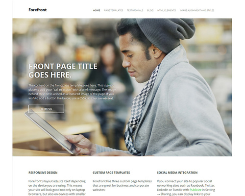 Simple WordPress Business Theme