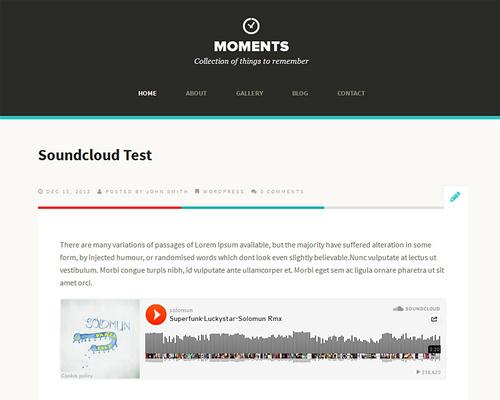 Moments Free Wordpress Theme For Personal Blog Themeshaker Com