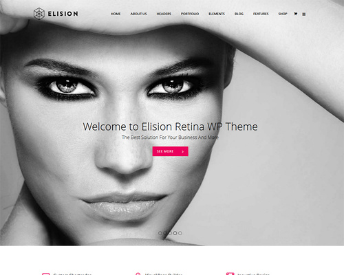 Impressive Retina-ready WordPress Theme