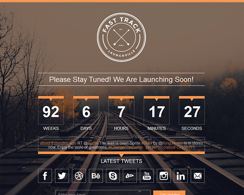 Responsive Coming Soon WordPress Theme