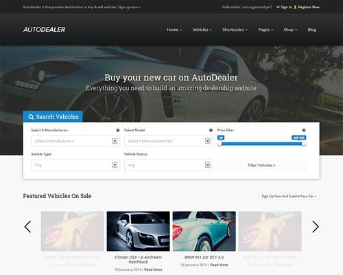 Used Car Dealers WordPress Theme
