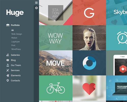 WordPress Theme with 3D & Parallax Effects