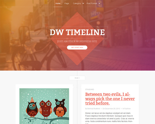 WordPress Timeline Theme for Blog